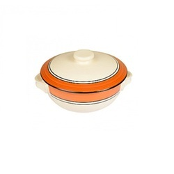 Ceramic Serving Bowl With Lid, Packaging Type: Box