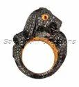 Figure Diamond Silver Ring