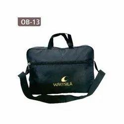 Black Polyester Office Bag, Capacity: 5 Kg