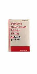 EmTaf-B Tenofovir 25mg Tablet