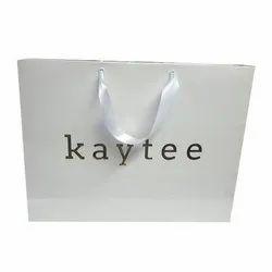 White Printed Paper Shopping Bag