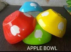 Apple Pattern Plastic Serving Bowl