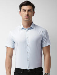 Mens White Standard Formal Shirts