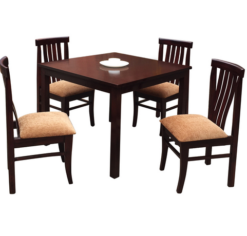 Great Mubell Dark Brown Ambrosia Dining Table 4 Seater In Teakwood