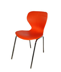 Orange Plastic Canteen Chair