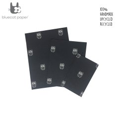 Hand stitch gift bags - black with white owls
