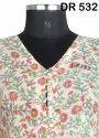 Cotton Hand Block Printed Women's Long Kurti Maxi Dress DR532