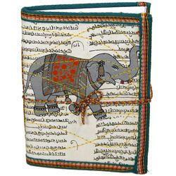 Elephant Printed Handmade Paper Journal