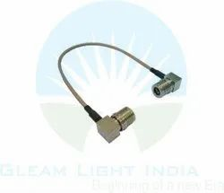 RF Cable Assembly QMA Right Angle to QMA Right Angle in RG316