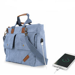 Portronics POR-868 Blue Canvas Laptop Office Bag / College Bag
