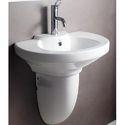 Hindware Clipper Half Pedestal Wash Basin