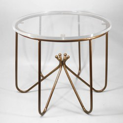 56x56x47 Cm Iron Table With Acrylic Top