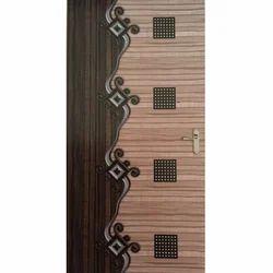 Wood Multicolor Mica Door