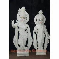 White Marble Radha Krishna God Statue