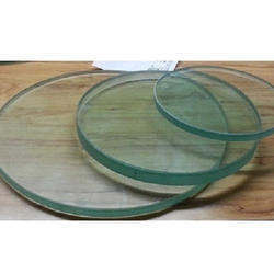 Transparent Round Toughened Glass, Thickness: 1mm To 22mm
