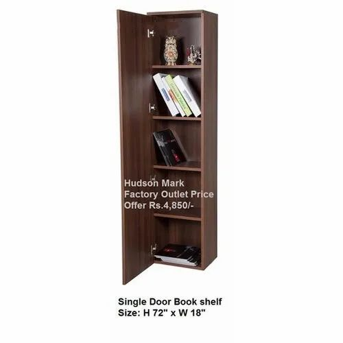 Book Shelf Hudson Mark Single Door Bookshelves, Size: 72H*18W*16D Inches