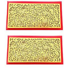 Cloth Square Artshai Designer Red Shagun Envelope for Marriage (Pack of 2), Pack Type: Box