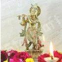 Metal Lord Krishna Idol