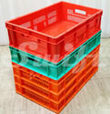 Rectangular Blue/orange/yellow/black High Impact Unbreakable Plastic Crates, Capacity: 76 Ltr