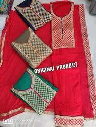 Cotton Designer Suit Ladies Suits, Handwash