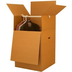 Plain Cardboard Brown Wardrobe Boxes