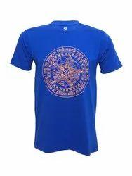 Pentagram Baphomet Cotton Half Sleeve Printed Casual Graphic T-Shirt