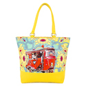Red Taxi Tote Bag
