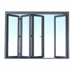 Rectangular Modern Aluminium Glass sliding and folding, For Home