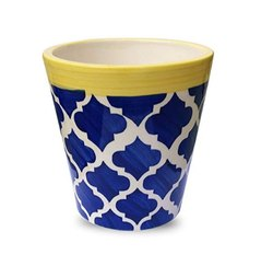 Modern Blue and Yellow Pot