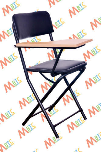 black mbtc folding student writing pad training chair rs 930 piece rh indiamart com