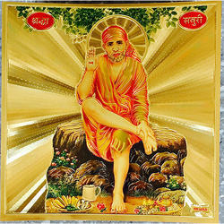 Sai Baba Poster in Gold Foil 24K