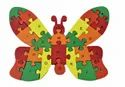 Multicolor Wooden Butterfly A-z English Alphabet And Numbers Puzzle Toy