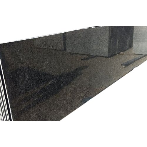 Black Galaxy Granite Slab, For Countertops, Thickness: 20-25 Mm