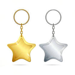 Golden And Silver 15 g Metal Key Chain Set
