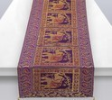 Elephant Purple Table Runner