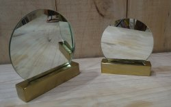 Table Mirror - Brass