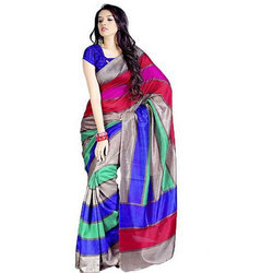 Bhagalpuri Silk Saree, 6.3 M (with Blouse Piece)