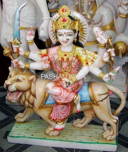 Marble Durga Maa Statue Shera Vali Statue Wholesale