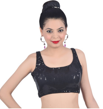 008d7d3d Black Colour Blouse at Rs 799 | Readymade Blouse - Blouse Cart Dot ...