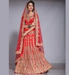 351ff9a57b736f Red Beautiful Bridal Lehenga