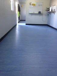 Blue Homogenous Vinyl Floor, For Easy To Install