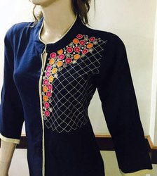 Rayon Emb Ladies Designer Kurties