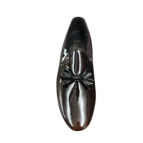 Rexine Mens Loafers Shiny Shoes