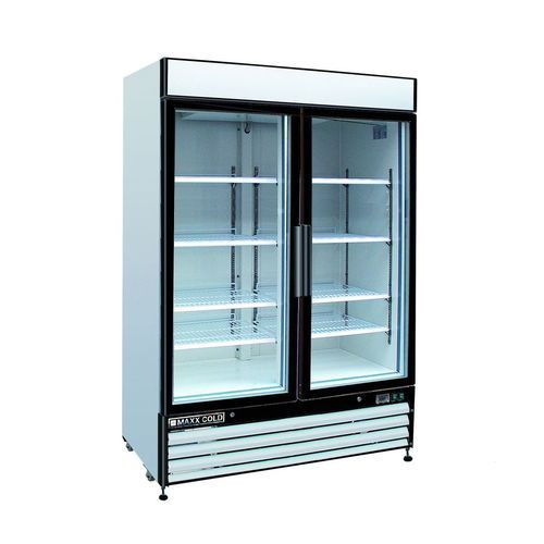 Blue Star Stainless Steel Ma Cold Glass Door Commercial Refrigerator Double