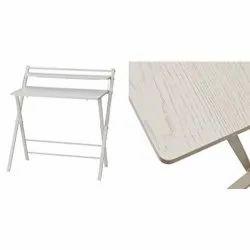 White Wooden Folding Laptop Table Study Table Desk