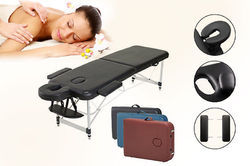 Portable 3 Section Aluminium Massage Bed
