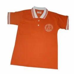 Blue Deewills PC Matty Cotton School Collar T shirt