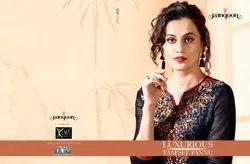 Laxurious Pure Modal Banaras With Cotton Printed Designer Anarkali Kurtis
