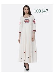 Designer Party Wear Cotton Kurti By Parvati Fabric