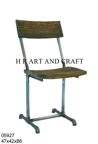Iron and Wooden Chair for Restaurant